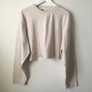 vintage Off White Gap Cropped Sweater